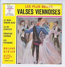 """Roland DIDIER Cordes Orchestre Vinyle 45T 7"""" EP VALSES VIENNOISES -TRIANON 4432"""
