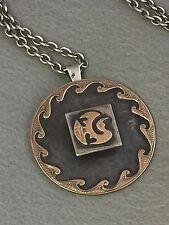 CORMORANT Pendant & Chain  GRAZIELLA LAFFI Patinated Sterling Silver & 18k Gold