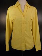 Beautiful Women's Size 2 Chico's Yellow Long Sleeve Fitted Button Blouse GUC