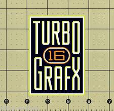 "CUSTOM MADE COLLECTIBLE TURBOGRAFX 16 LOGO MAGNET (2¾""x3⅞"") turbo grafx grafix"