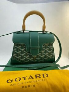 Goyard Saigon Top Handle Mini Green Leather Bag