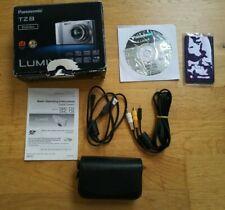 Panasonic Lumix DMC-TZ8 caja, instrucciones y caso de genuino conduce