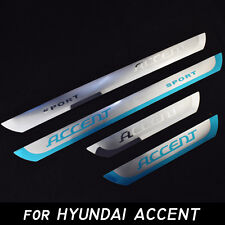 Stainless Stee door Sill Scuff Plate for HYUNDAI ACCENT 2010-2017