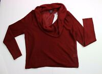 Apt 9 Women's Cowl Neck Sweater Sz M Red Wine Long Sleeve / NWT
