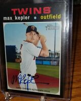 """MAX KEPLER 2010 TOPPS HERITAGE AUTO TOPPS CERTIFIED """"REAL ONE"""" 💥👍"""