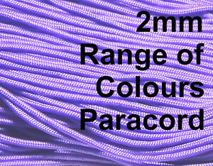PARACORD cord rope string line 2mm poly lanyard bead tie lanyard corde UK