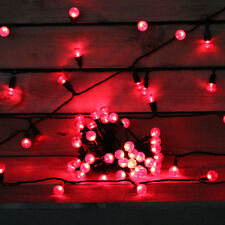 70 ROUGE LARGE BAIE Lumières de sapin Noël intérieur extérieur Décorations