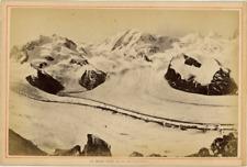 Suisse, Le Mont-Rose  vintage albumen print,  Tirage albuminé  13x18  Circ