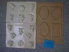 Gießform / Reliefform aus Plastik, 4 Stück, Zustand sehr gut