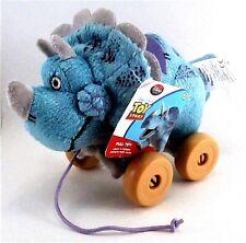 TOY STORY Disney Pixar New TRIXIE Plush Triceratops Dinosaur Pull Along Wheels