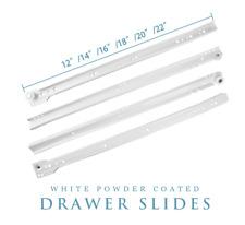 5/10/15/20 Pairs Powder Coated White Euro Drawer Slides Kitchen Cabinet Closet
