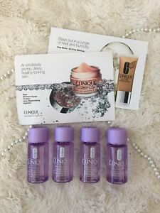 (4) NEW Clinique Take The Day Off Makeup Remover Travel Minis + BONUS Samples