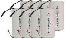 8pcs SubC Sub C 6000mAh 1.2V Ni-MH W/ Tab Rechargeable Battery White High Power