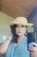 Scala Woven Straw Sun Hat handcrafted  Italy Made