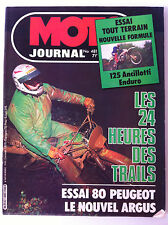 N°481 MOTO JOURNAL; Essai tout terrain 125 Ancilloti enduro/ 24 heures trails
