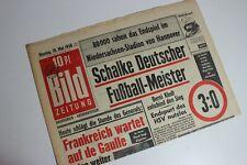 BILDzeitung 19.05.1958     FC Schalke 04  Deutscher Fußballmeister   Fußball
