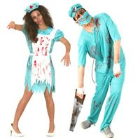 Couples Costume Halloween Surgeon Nurse Doctor Zombie Fancy Dress Outfit Scrubs