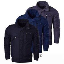 Zip Waist Length Funnel Neck Raincoats for Men
