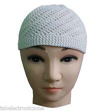 White Men's Namaaz cap topi Islamic Muslim cap free shipping