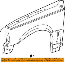 FORD OEM 04-11 Ranger-Front Fender Quarter Panel Right 5L5Z16005A