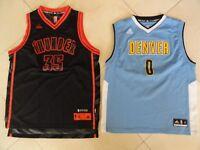 (2) Oklahoma City OKC Thunder LE Durant, Denver Nuggets Mudiay NBA Jersey Y XL