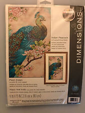 Dimensions INDIAN PEACOCK Cross Stitch Kit - Sealed New in Bag