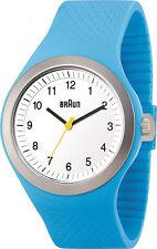 Braun Men's Analog Quartz Blue Plastic / Silicone Watch BN0111WHBLG