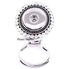 Magnetic Rhinestone Snap Charm Eyeglass Work School ID Badge Holder Silver 4-6