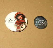Silence The Whispered World 2 & Affordable Space Adventures promo Badge Pin