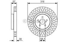1x BOSCH Disco de freno delantero 0 986 479 A81