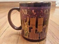 "NEW YORK City Merchandise Coffee Mug Skyline Liberty Trade Center Empire 4"" Tall"