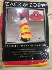 Zack And Zoey Pawfield Fire Chief Costume Size X Large