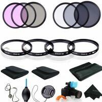 58MM Macro Close Up Set + UV CPL FLD ND 2 4 8 Lens Filter Kit for Canon Nikon