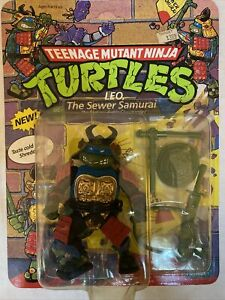 1990 Playmates Teenage Mutant Ninja Turtles LEO THE SEWER SAMURAI RARE TMNT