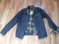 Pepe  JEANS reversible BLUE denim CAMOUFLAGE jacket.,NEW