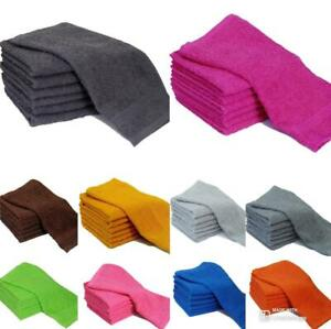PACK OF 4 & 8 FACE CLOTHS TOWELS 100% COTTON FLANNELS WASH CLOTHS HEAVY 500 GSM