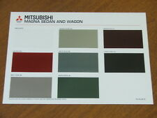c1995 Mitsubishi Magna original Australian Paint and Trim chart