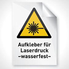 5 WEISS GLANZ Bogen Aufkleber Pickerl Bapperl Folie bedrucken A4 Laserdrucker