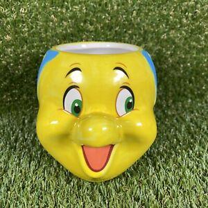 DISNEY Flounder Novelty 3D Mug - The Little Mermaid - Good Condition