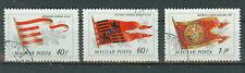 Briefmarken Ungarn 1981 Historische Flaggen Mi.Nr.3486-88