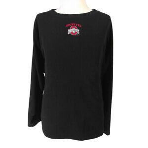 Ohio State Buckeyes fleece sweater men's 2XL XXL black long sleeve NCAA