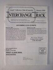 Interchange Rack January 1999. Lionel Train Collector's Club Magazine. railroad