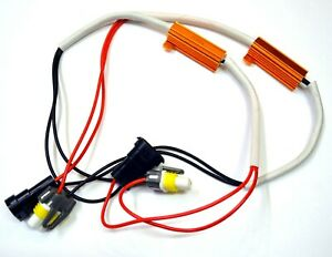 Wire LED Resistor Canceler Error Decoder C H11 Fog Light Flickering Fix Harness