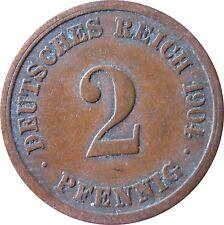 J  11   2 Pfennig KAISERREICH  1904 F in SS  1502364