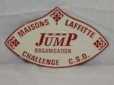 Maisons Laffitte Jump Challenge C.S.O. International Horse Jumping  Metal Sign