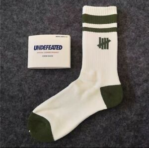 Undefeated Icon Classis Crew Sock- Green /White-From Japan