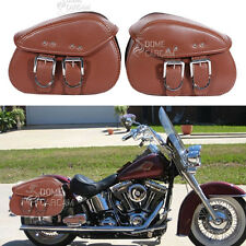 PU Leather Side Saddle Bag for Kawasaki VN Vulcan Classic Nomad Drifter 1500