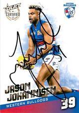 ✺Signed✺ 2017 WESTERN BULLDOGS AFL Card JASON JOHANNISEN