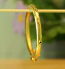 Girl Bangle Anklet With Lock And Bell 22K Thai Baht Dp Yellow Gold ~ Baby