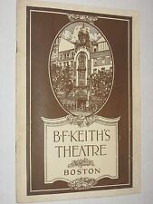 Vintage July 1918 B.F. Keith Theatre Program Booklet - Boston MA